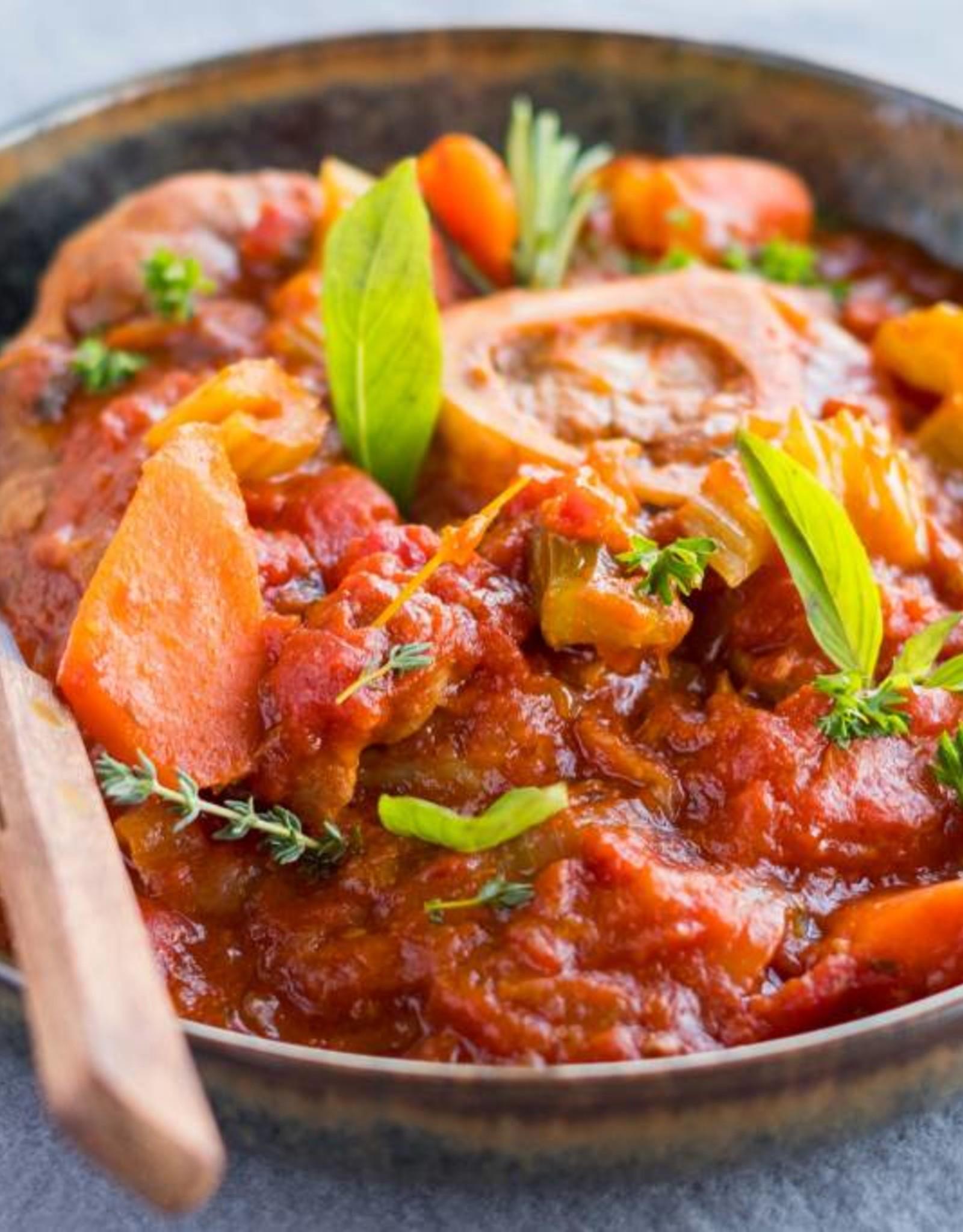 Ossobuco kalfsvlees met tomaat en basilicum - 600g