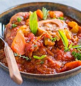 Ossobuco met tomaat en basilicum