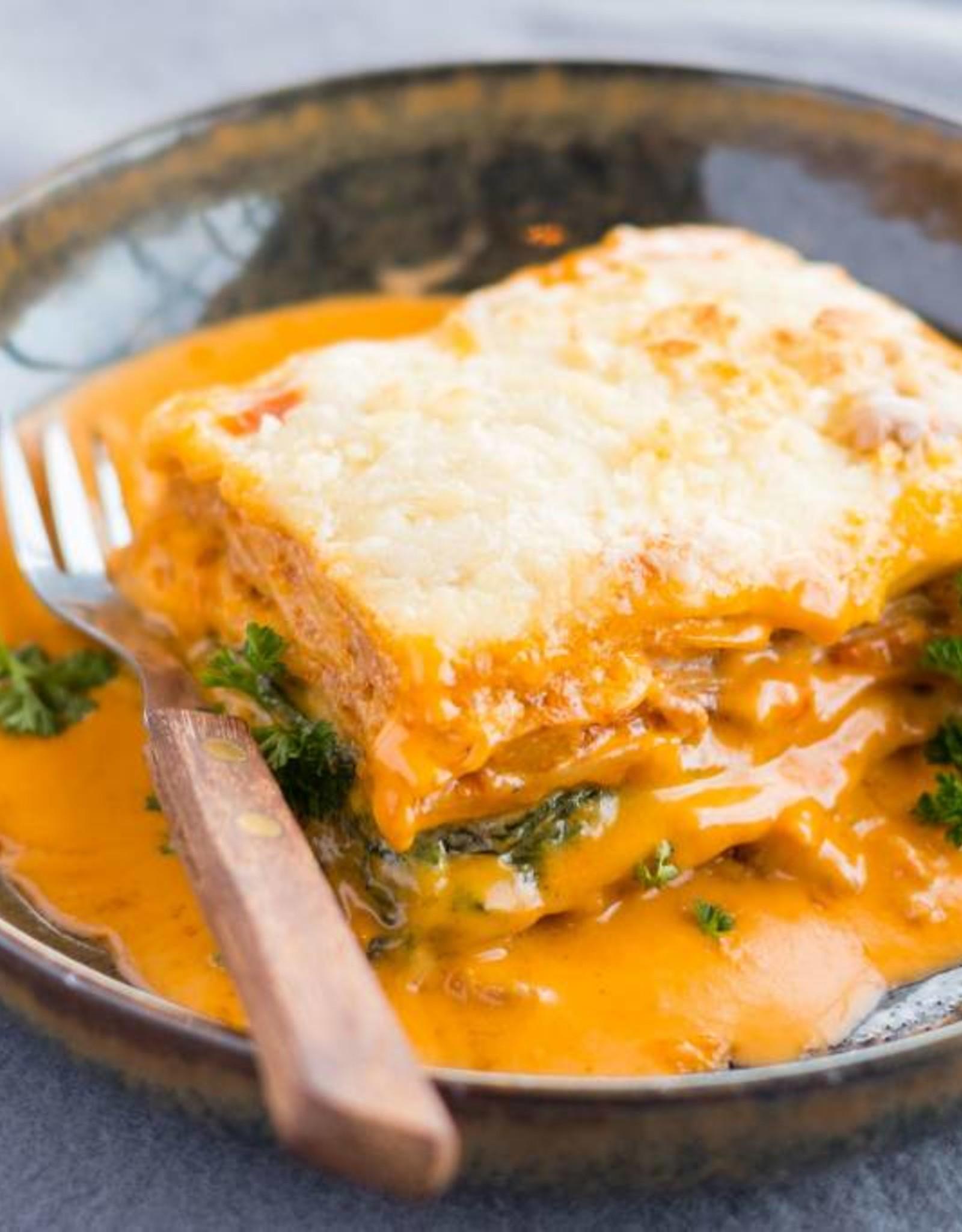 huisgemaakte Lasagne met bolognaise beenham en bladspinazie 500 gr