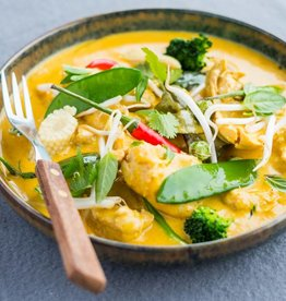 Thaise kip met rode curry