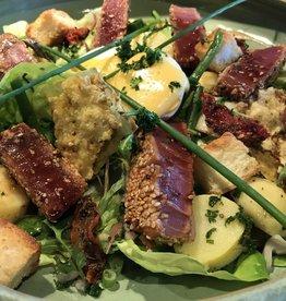 salade Nicoise ( vers gegrilde tonijn )