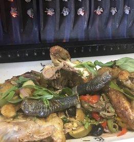 zwartpoot kip a la broche tropiziene 2a 3 pers