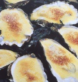 3 st  diepe oesters  gegratineerd met spinazie en champagnesaus