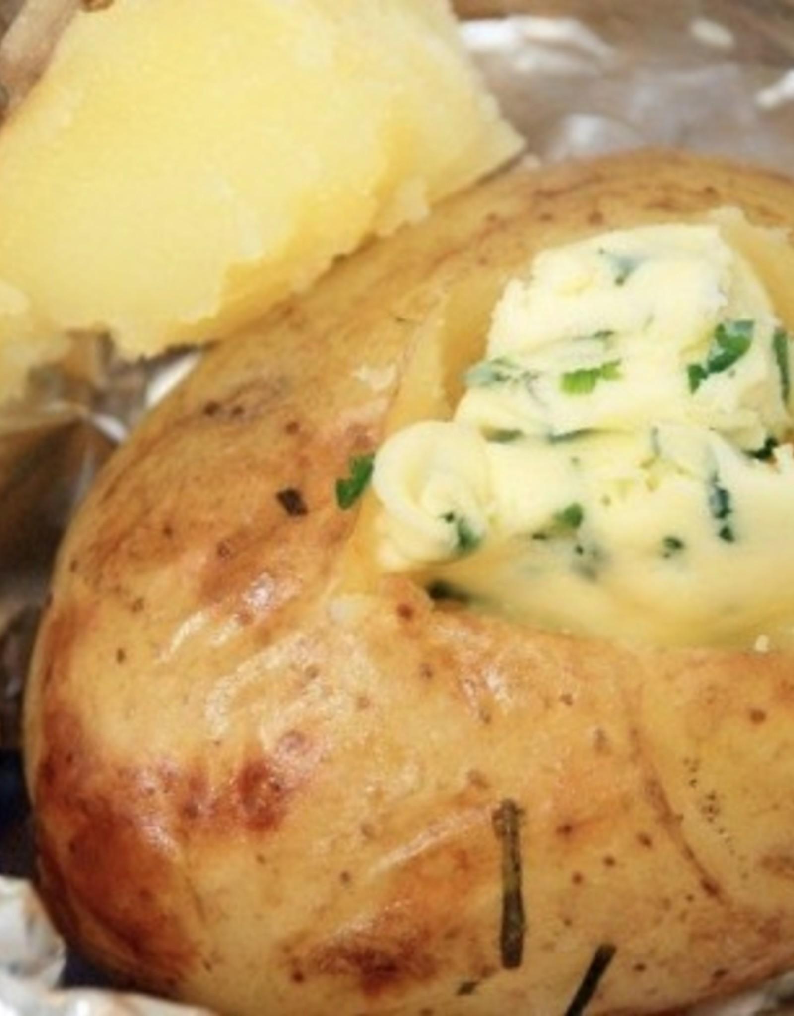gepofte aardappel met lookboter