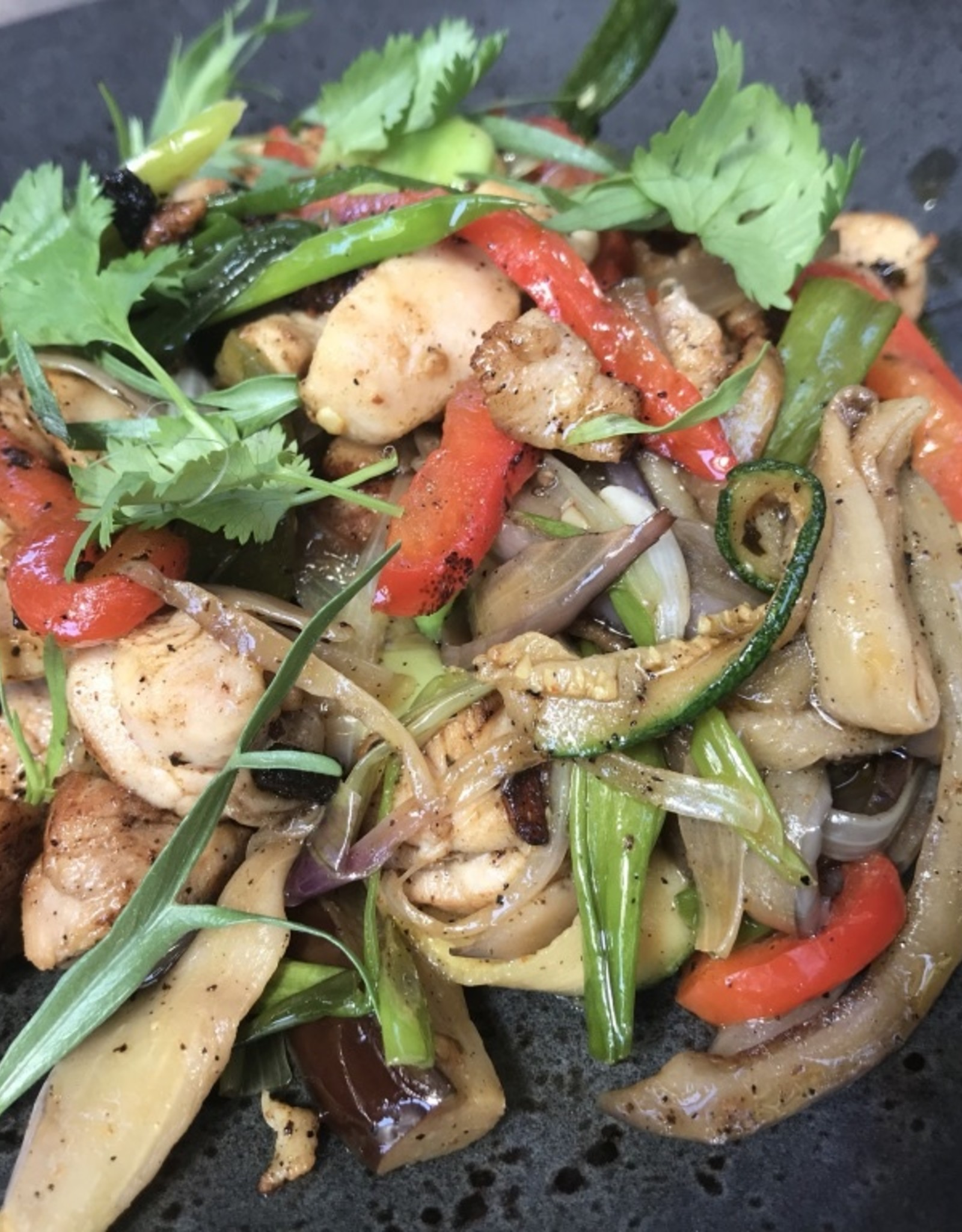 Kippen gyros met gegrilde groentjes