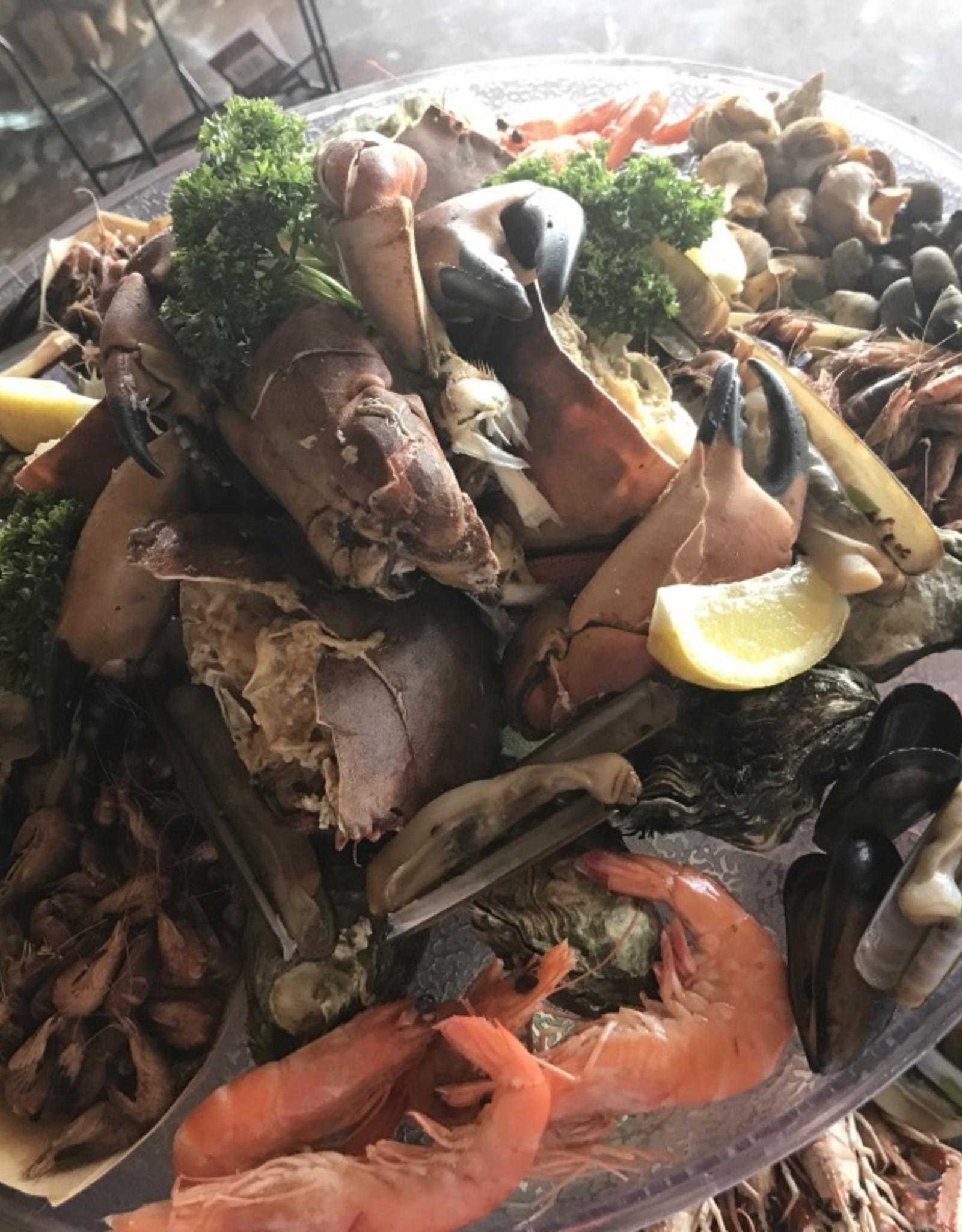 Zeevruchten schotel  2 pers  ( 30 € p/p) ZONDER kreeft en krab !! Dit word apart bij besteld