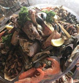 Zeevruchten schotel  2 pers  ( 32 € p/p)  ZONDER kreeft en krab !! Dit  worden apart bij besteld
