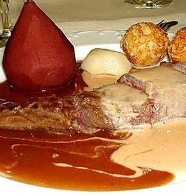 hazenrugfilet  met 2 sausen ( Arlequin ) 1 1/2 filet