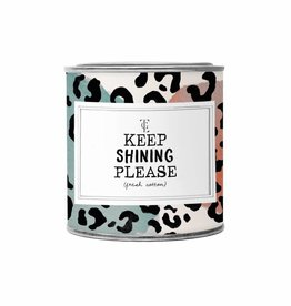 The Gift Label The Gift Label Candle Tin Keep Shinning Please Fresh Cotton S