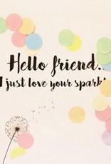 The Gift Label The Gift Label Confetti Card Hello friend