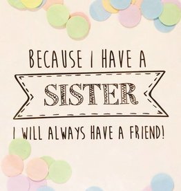 The Gift Label The Gift Label Confetti Card Sister