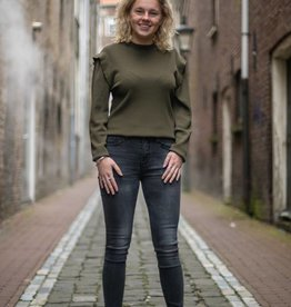 Rebelz jeans Zoe grijs/zwart
