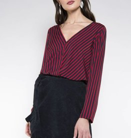 Rut & Circle Alex Stripe Wrap Blouse