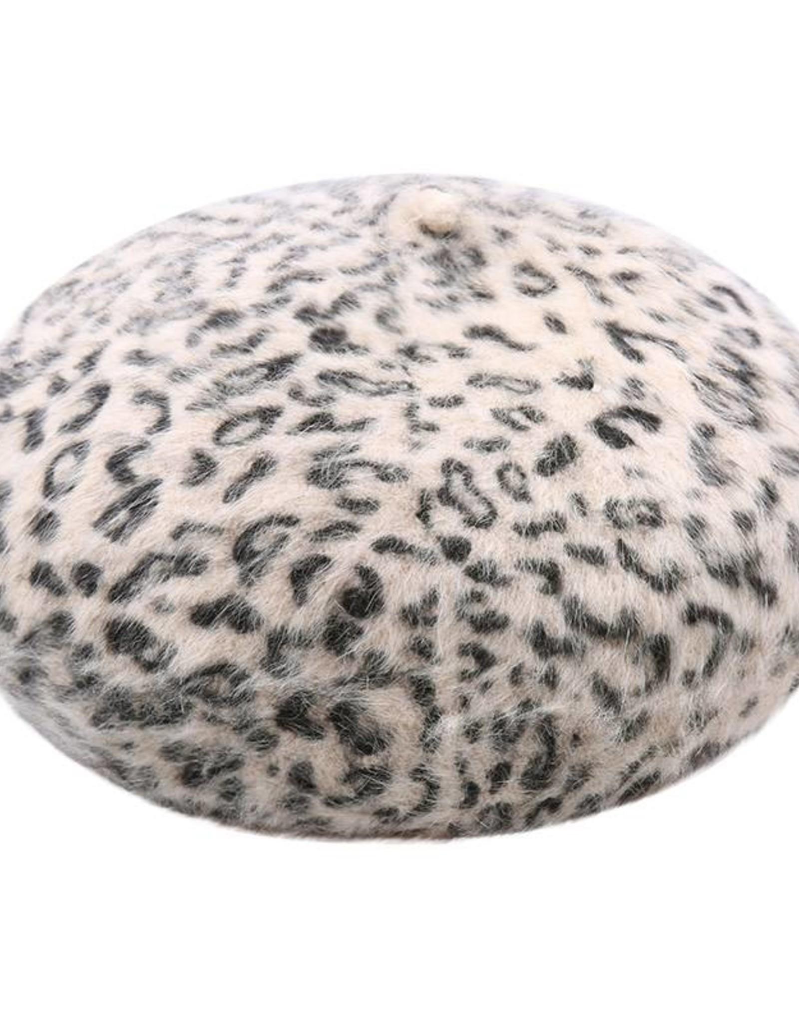Baret Leopard Creme