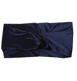 Haarband Rib velvet blauw