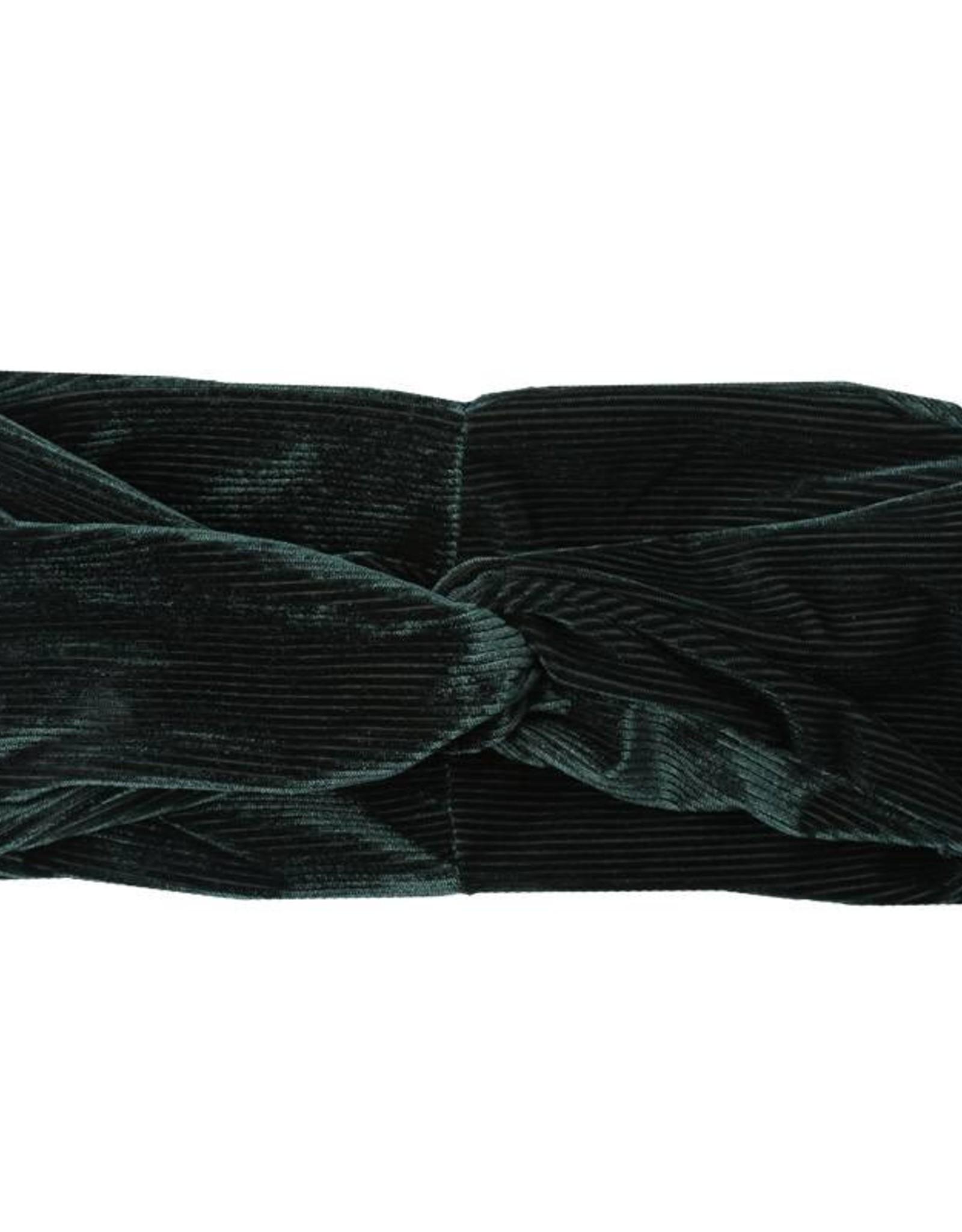Haarband Rib velvet groen