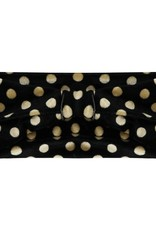 Haarband velvet dots black