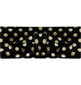 Haarband velvet dots black