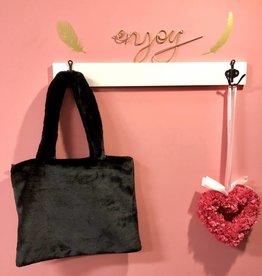 Handbag fake fur Black