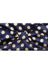 Haarband velvet dots blue