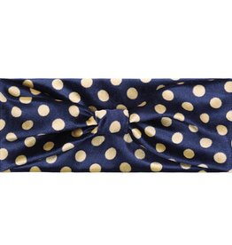 Haarband velvet dots blue