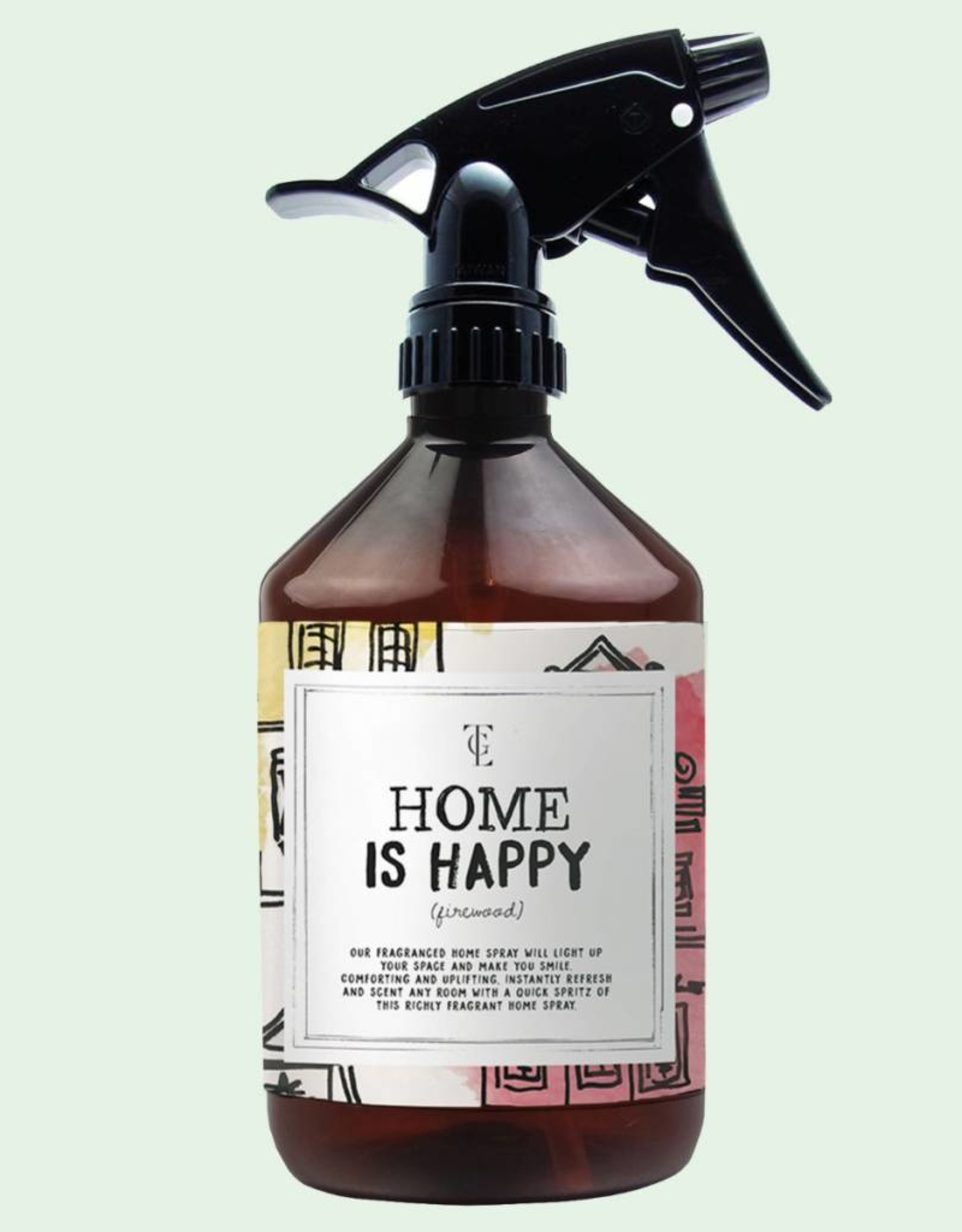 The Gift Label The Gift Label Roomspray Home is Happy Fire wood