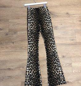 Flared pants Elin leopard