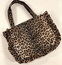 Leopard shopper ruffle