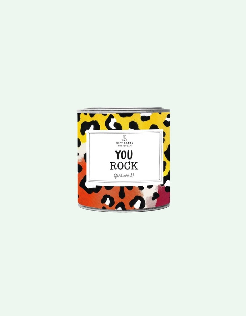The Gift Label The Gift Label Candle Tin You Rock Cotton L