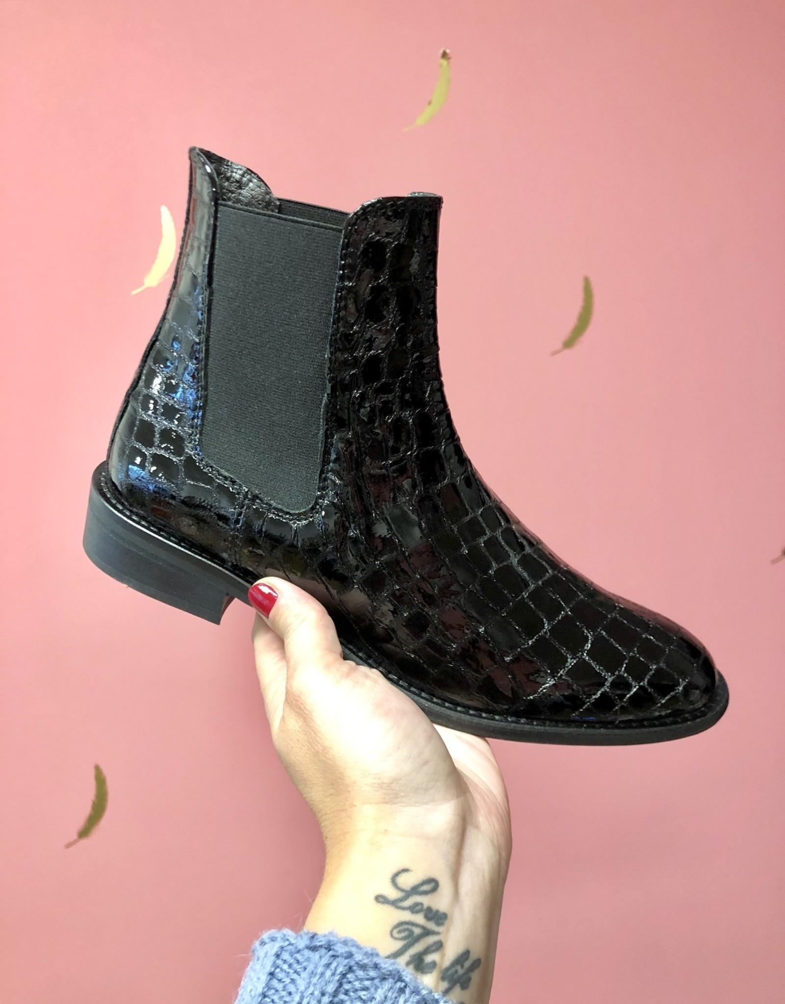 Hip Hip Leren Chelsea Boot Croco