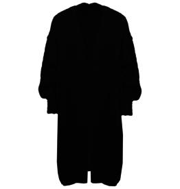 Vest lang Mohair Zwart