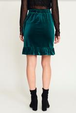 Rut & Circle Vera Velvet Skirt