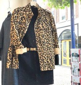 Rebelz Denim leopard Jacket