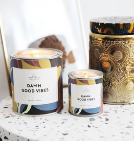 The Gift Label The Gift Label Candle Tin Damn Good Fresh Cotton L
