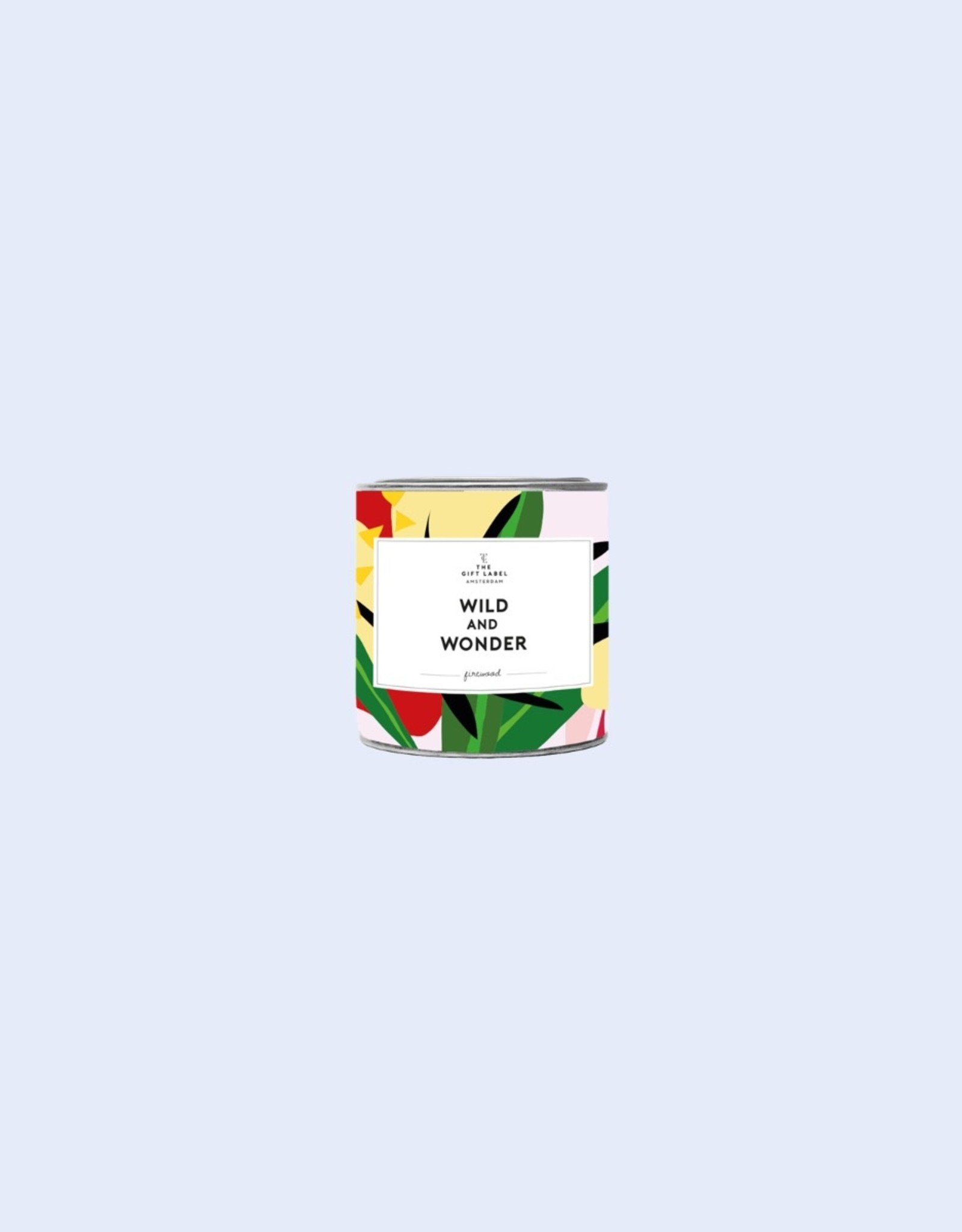 The Gift Label The Gift Label Candle Tin Wild and Wonder Firewood S