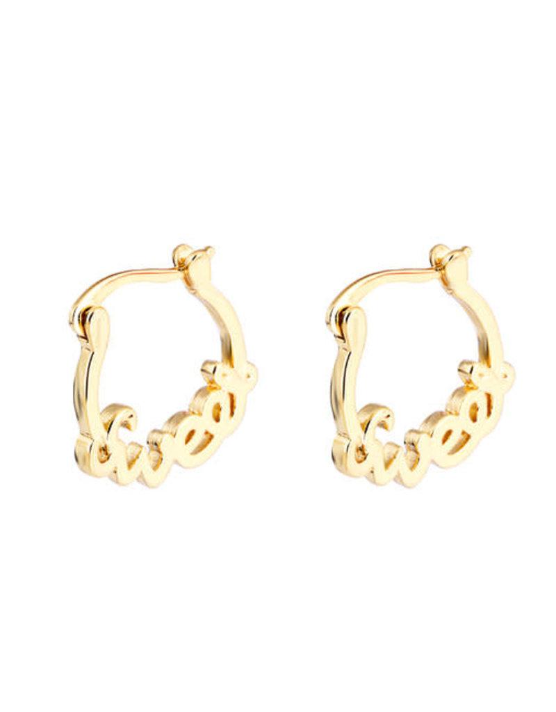 ByShir ByShir oorbellen ring Sweet goud
