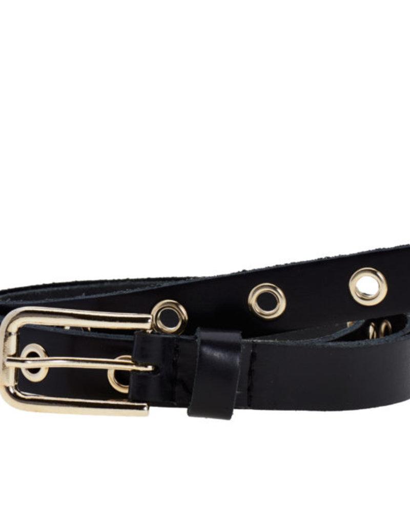 Elvy Elvy Belt Hoops Silver Small Black 20 mm