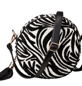 Bulu Bulu Tas Rond Zebra