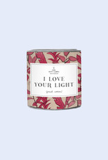 The Gift Label The Gift Label Candle I Love Your Light Jasmine Vanilla L