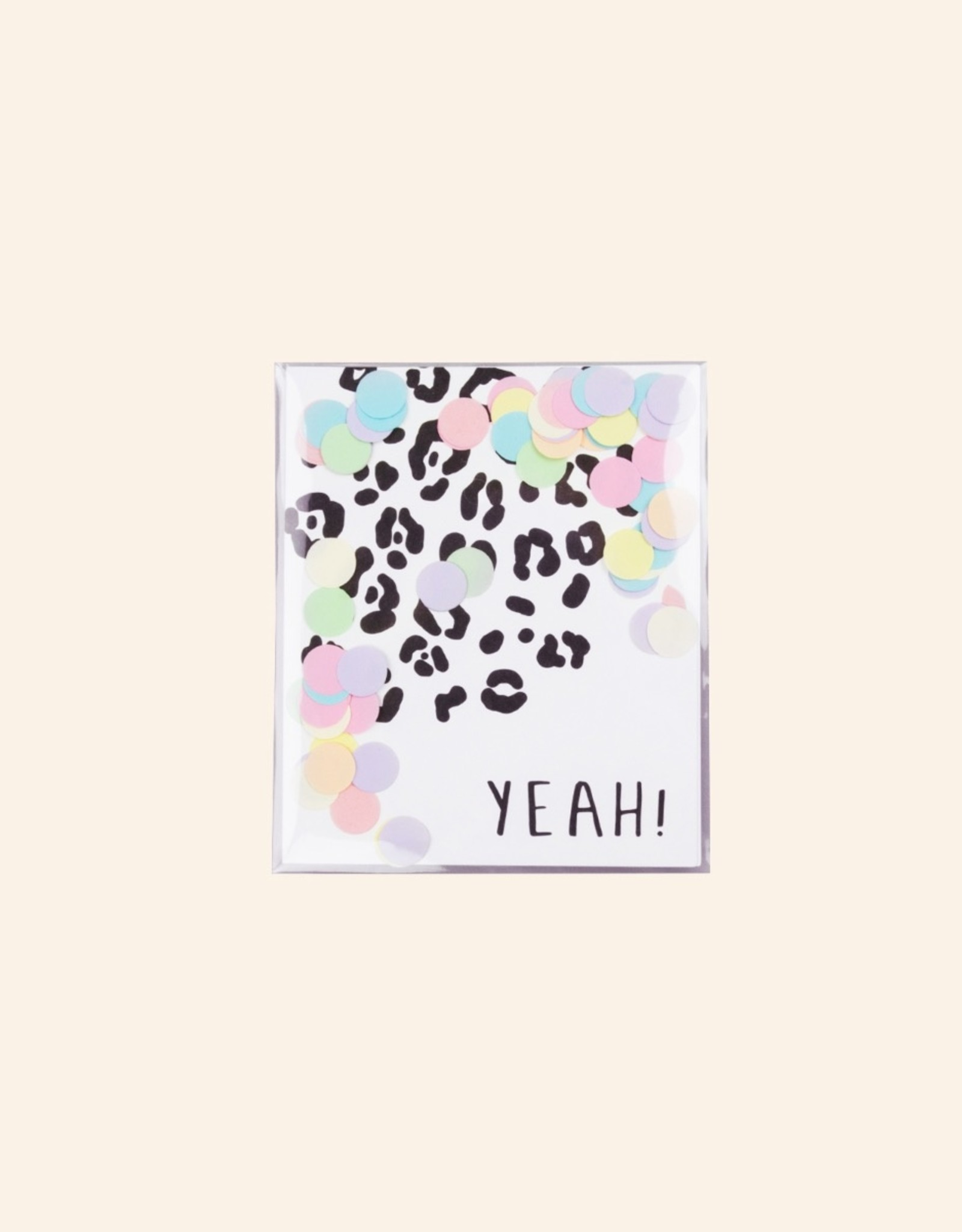 The Gift Label The Gift Label Confetti Card Yeah