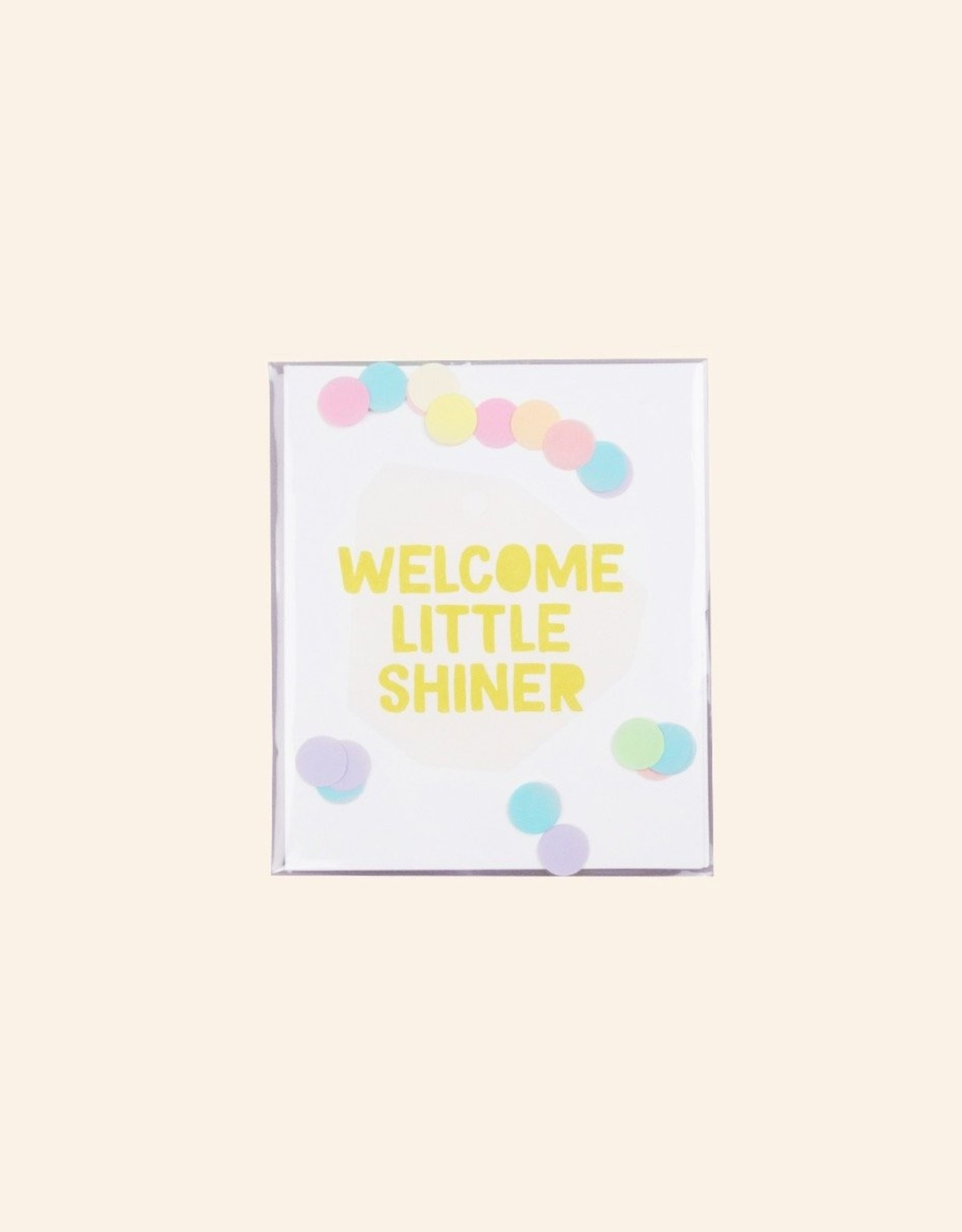 The Gift Label The Gift Label Confetti Card Welcome Little