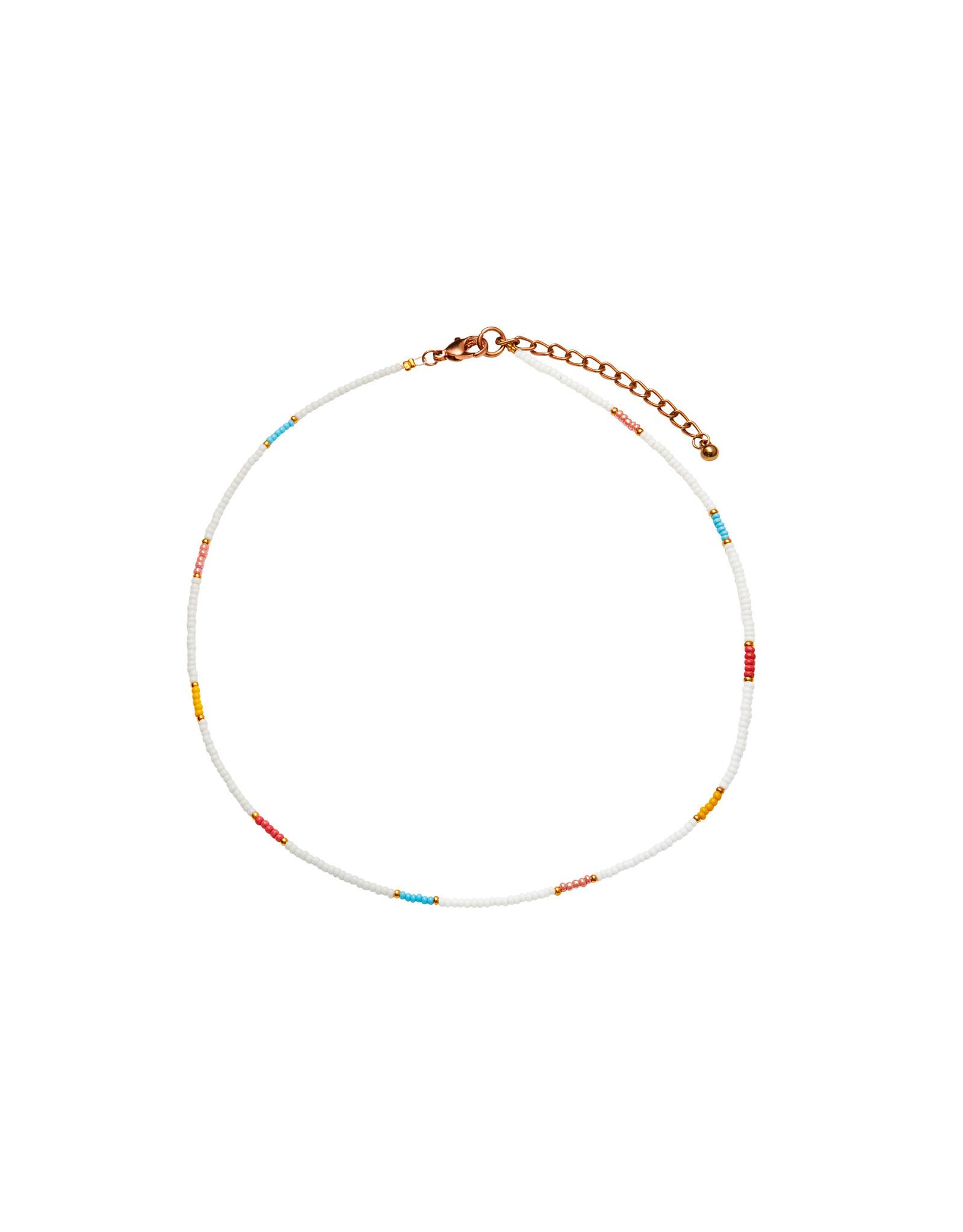 Bulu Bulu Happy Beads Necklace wit/geel