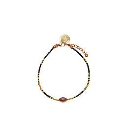 Bulu Bulu Happy Beads Anklets zwart