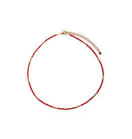Bulu Bulu Happy Beads Necklace Rood