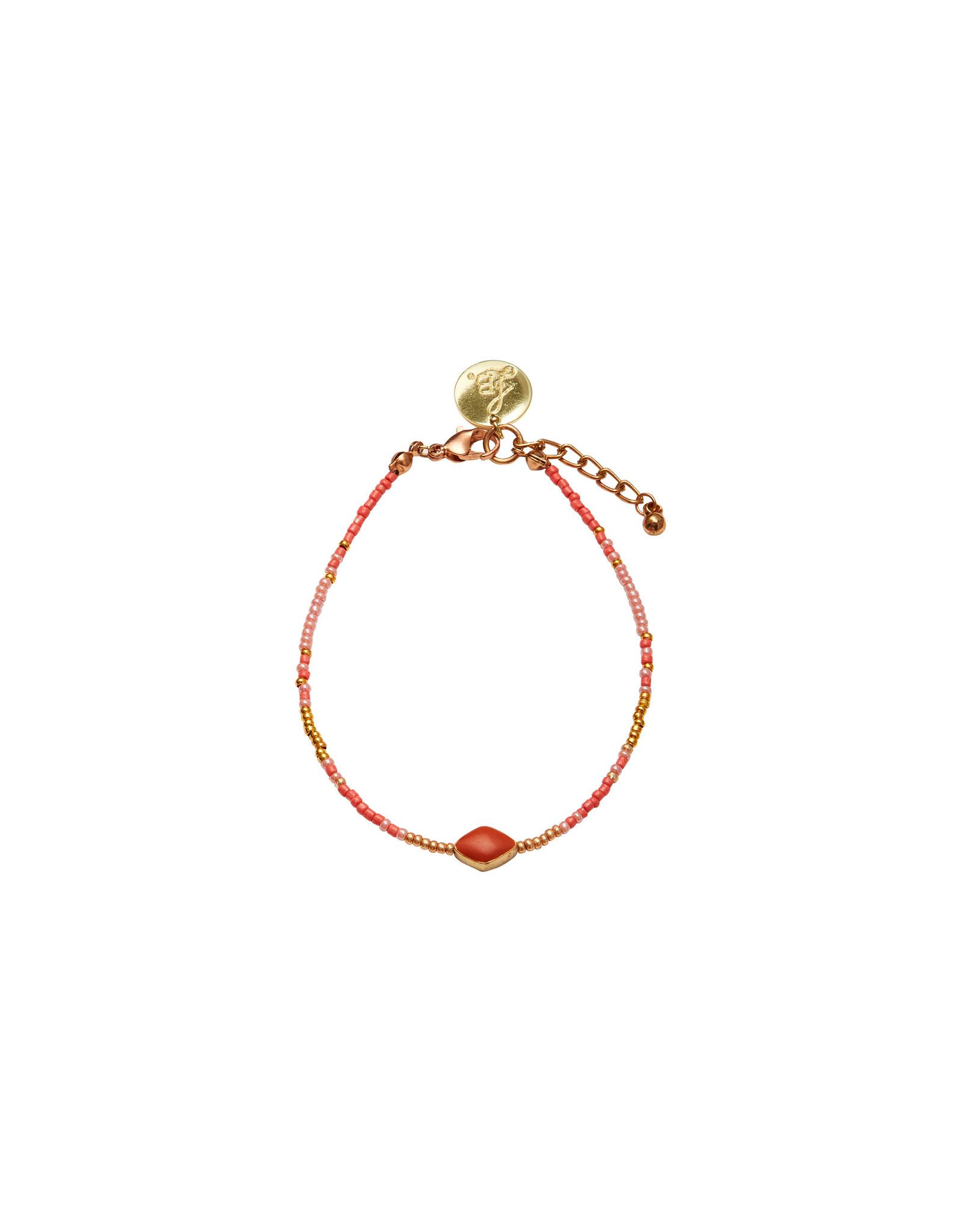 Bulu Bulu Happy Beads Anklets coral