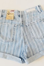 C.O.J. C.O.J. Short Isabel Stripe Denim