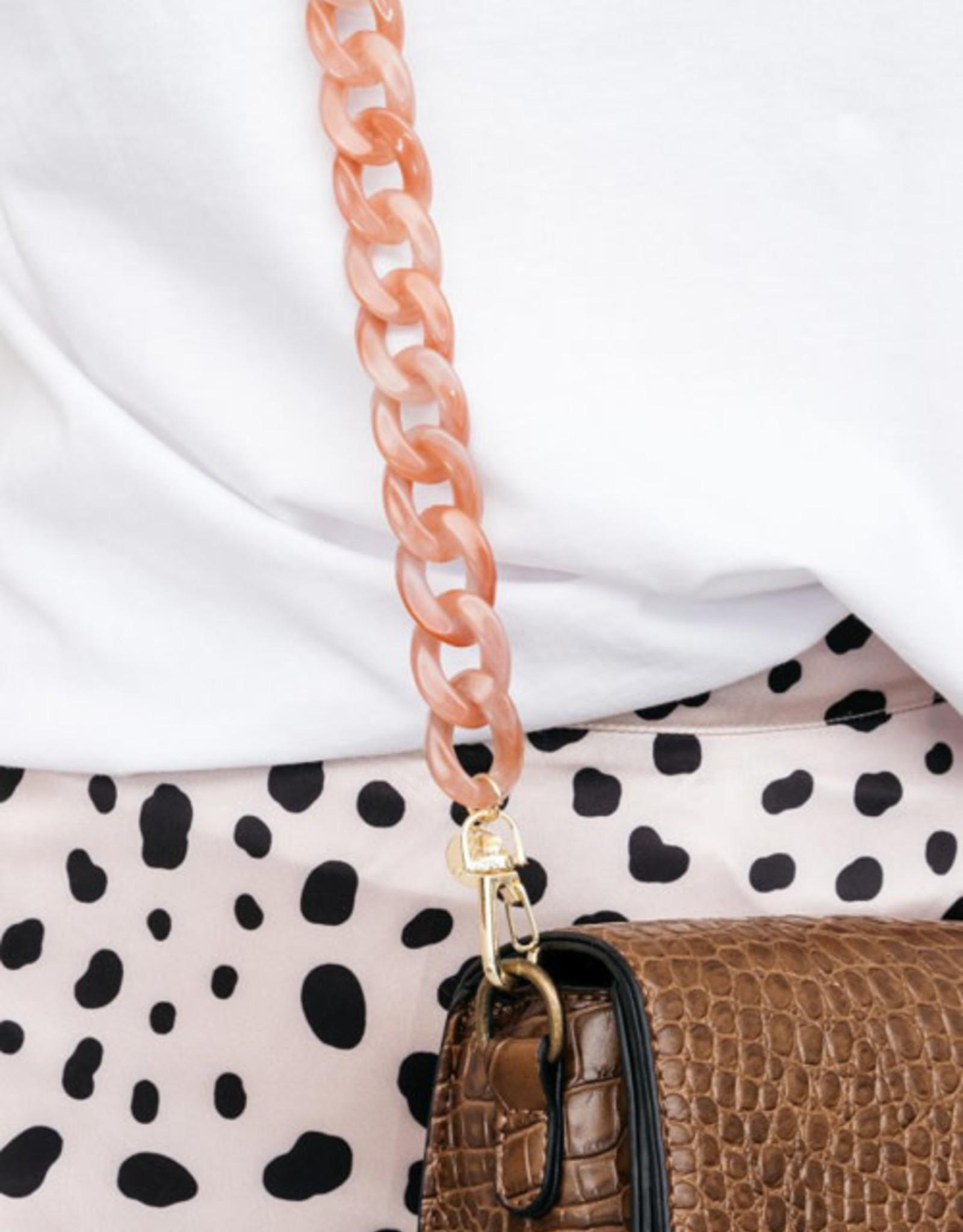 Bulu Bulu Marble Chain Bagbelt - Pink