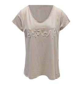 T-shirt C'est La Vie Beige