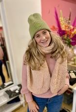 Bulu Bulu Teddy sjaal zacht roze