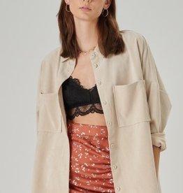 24Colours 24Colours Oversized rib blouse Beige
